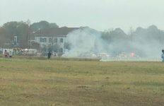 Plane Crashes behind Walmart on Pinhook Road